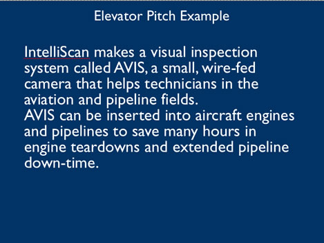 Tuesday Marketing Notes 10405 – Elevator Pitch Example